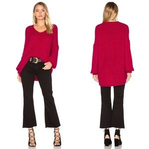 Free People All Mine Oversized Sweater Cranberry